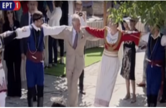 Charles and Camilla bid farewell to Greece with a Cretan folk dance (video)