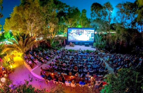 Europe's top-12 outdoor cinemas this summer - one located on Santorini island