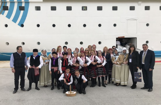 First cruise ship arrived in island of Rhodes for 2019
