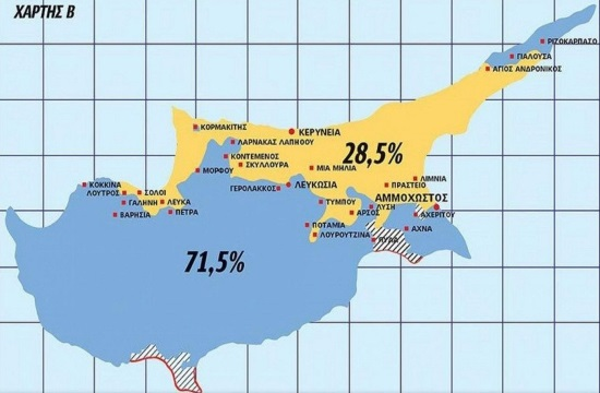 Cypriot newspaper presents new map of Cyprus after Greek-Turkish talks