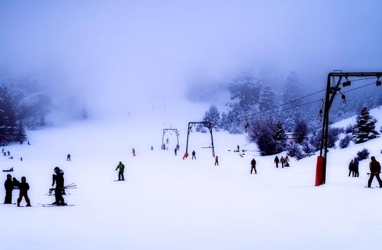 Temperatures drop below zero in ski resorts of Greece