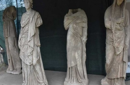 Six ancient Greek statues discovered in Magnesia on the Meander river in southwestern Turkey