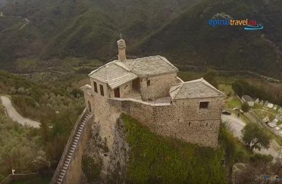 Drone flight over Saint Minas Monastery in Kokkino Lithari (video)