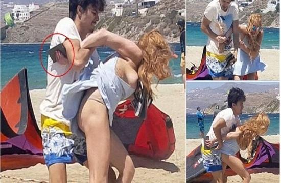 Lindsay Lohan in fight with partner Egor Tarabasov on Mykonos (pics and video)