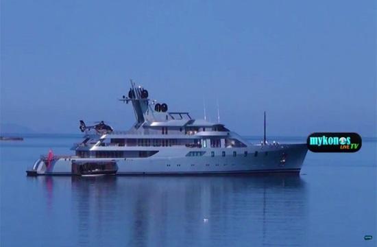 "Super luxury yacht ""Pacific"" docks at Mykonos port (video)"