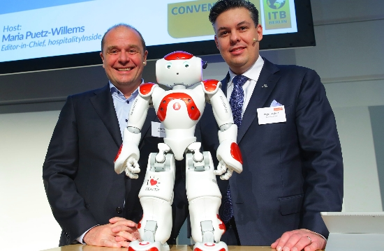 Robots welcome visitors to ITB 2016 Berlin travel fair