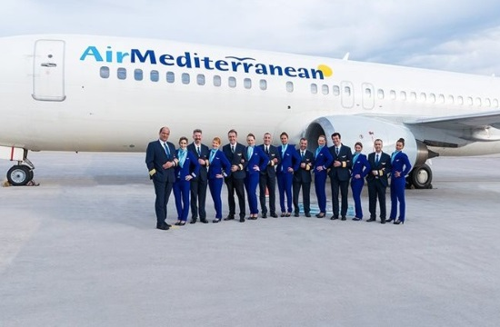 "London's Stansted Airport greets first ""Air Mediterranean"" flight from Athens"