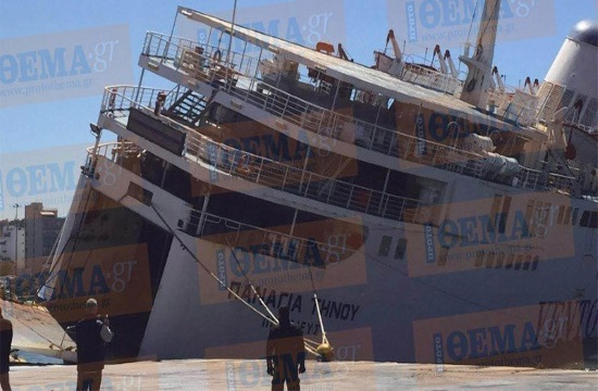 Half-sunken passenger ferry to be sent to Turkish scrap yard