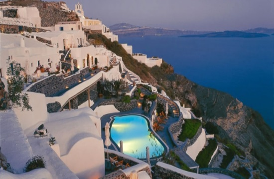 Greek hotel in Santorini on Conde Nast Traveller Gold List 2019