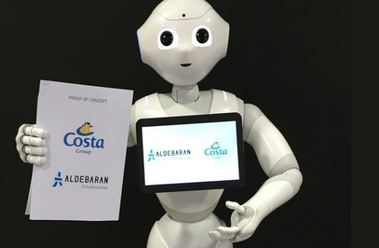 "Costa Group trials friendly cruise ship robot ""Pepper"""