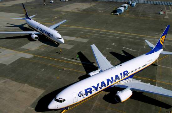 Ryanair: 13 new routes from Athens and Thessaloniki during winter 2018