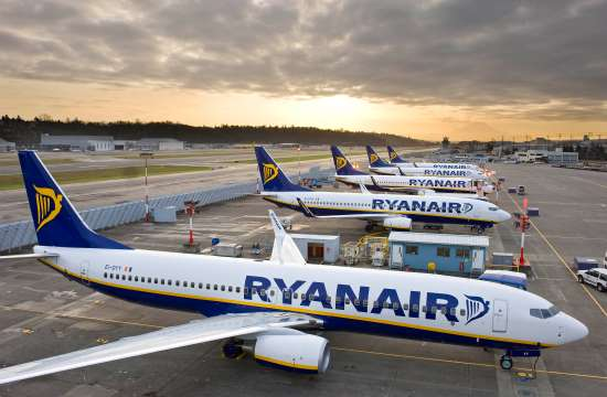 Ryanair's passenger traffic up by 12% in June