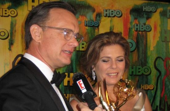 "Tom Hanks and Rita Wlison wish everyone ""Christos Anesti"" for Greek Easter"