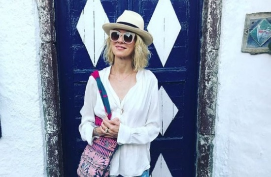 Hollywood Star Naomi Watts vacations on Greek island of Santorini