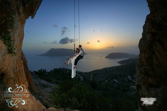 The most extreme wedding by climbers on Kalymnos island