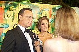 Tom Hanks and Rita Wilson arrive in Greek island of Paros by private jet