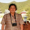 Thailand Princess enchanted by ancient Minoan site of Knossos in Crete