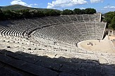 Ancient Greek tragedy Phedre on Theater of Epidaurus on July 26