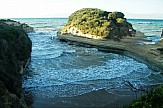 Canal d'Amour: the famous beach of lovers on the Greek island of Corfu