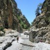 Samaria National Park in Crete opening on Good Friday from south entrance