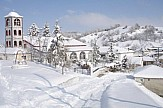 First snow fall in mountainous areas of Western Macedonia in Greece