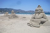 4th Sand Sculpture Festival takes place on Greek island of Crete