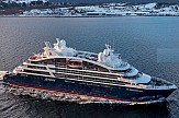 Two of the world's newest cruise ships in Greek port of Piraeus this week