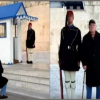 Photos of Greek grandparents watching Evzones grandson in central Athens go viral