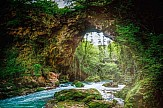 The 'Theogefyro' natural bridge in Zitsa, Epirus collapses after centuries
