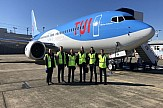 TUI welcomes the first 737 MAX on bio jet fuel