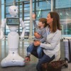 Humanoid robot with artificial intelligence at Munich airport