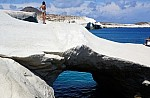 The couple are continuing their Greek vacations on Polyaigos, the island of the ibex and the monk seal