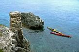 Crossing the Aegean Sea from Sounio to Santorini on kayaks