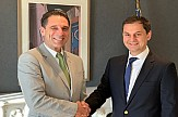 Greek Tourism Minister Harry Theoharis meets Thomas Cook's chief Peter Fankhauser