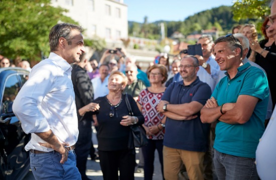 Eπίσκεψη του Κυριάκου Μητσοτάκη στα Βόρεια Τζουμέρκα- προώθηση του ορεινού τουρισμού