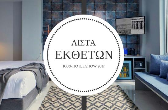 H τελική λίστα εκθετών του 100% Hotel Show 2017
