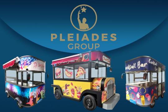 Pleiades - Group: Ηλεκτροκίνητα Φορτηγάκια εκδηλώσεων Street Food, Cocktail Bar & Dj Set