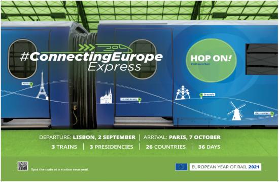 Ευρωπαϊκό Έτος Σιδηροδρόμων: Η αμαξοστοιχία «Connecting Europe Express» αναχωρεί από τον σταθμό