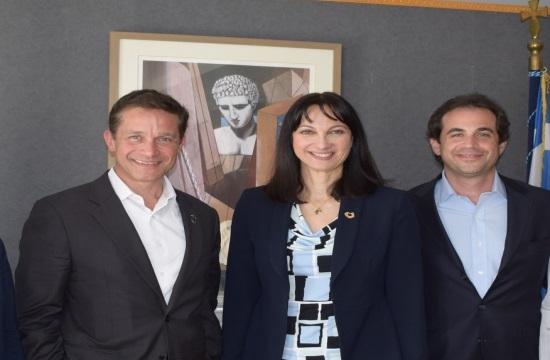 Συνάντηση Ε.Κουντουρά με τον Fabien Cousteau για υποθαλάσσιες έρευνες