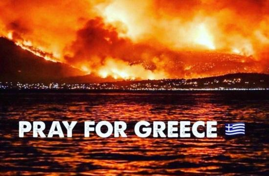 Η Olympic Holidays συγκεντρώνει χρήματα στη Βρετανία για τους πυρόπληκτους