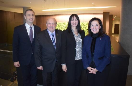 Η 'Ε.Κουντουρά στον Καναδά: Συνάντηση με τον Υπουργό Τουρισμού του Οντάριο