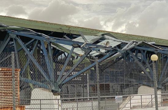 Σοβαρές ζημιές στο Ολυμπιακό Κέντρο Γαλατσίου από τον ισχυρό ανεμοστρόβιλο που έπληξε την Αττική