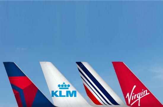 Air France, KLM, Delta & Virgin Atlantic στη μεγαλύτερη αεροπορική κοινοπραξία παγκοσμίως