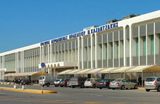 Αναστολή λειτουργίας του αεροδρόμιου Ηρακλείου μέχρι τις 16.30 λόγω κακοκαιρίας
