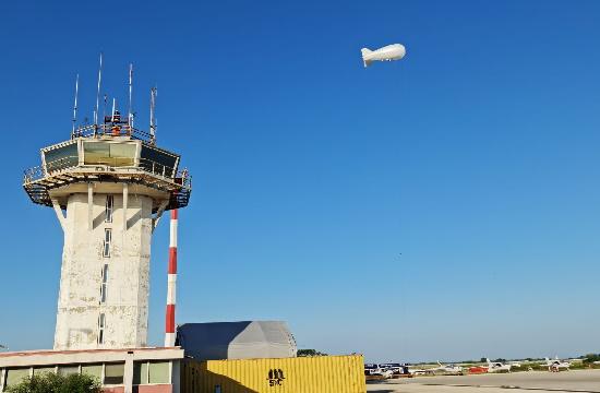 Στο Αεροδρόμιο Αλεξανδρούπολης «Δημόκριτος» το Δέσμιο Αερόστατο επιτήρησης συνόρων