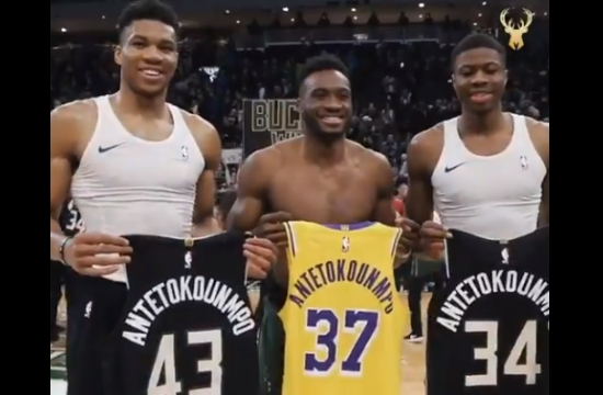 Tα αδέρφια Αντετοκούνμπο στην Ακρόπολη - Η ομάδα Milwaukee Bucks προβάλλει την επίσκεψή τους στον Παρθενώνα
