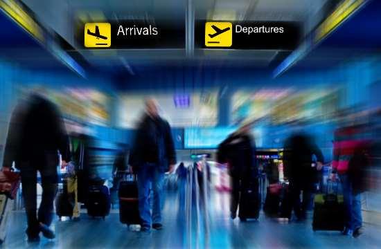 10,1% περισσότεροι επιβάτες στα ελληνικά αεροδρόμια το α' 4μηνο