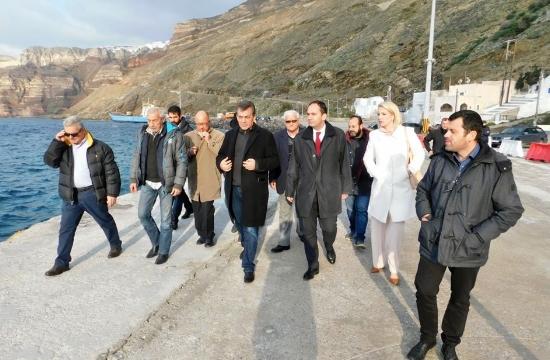 Σαντορίνη: Σύσκεψη εργασίας για το λιμάνι Αθηνιού