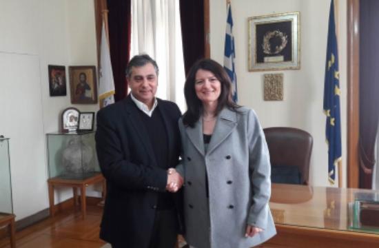 Συνάντηση Κορκίδη με τη γενική πρόξενο της Ελλάδας στη Σμύρνη