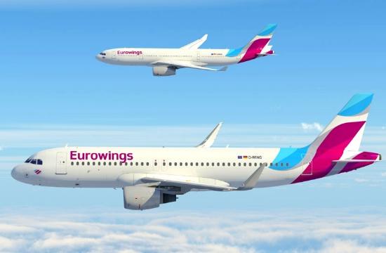 Eurowings: Μυτιλήνη, Σάμος, Μύκονος, Κάρπαθος, Σαντορίνη στους νέους προορισμούς φέτος